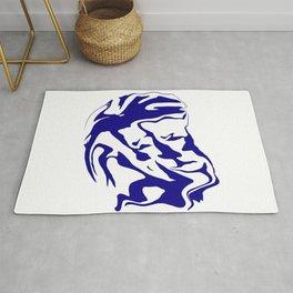 face6 blue Rug