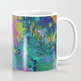 Messy Art I - Abstract, paint splatter painting, random, chaotic and messy artwork Coffee Mug