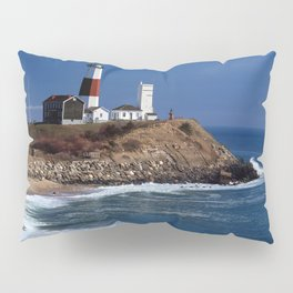 Crispy Morning at Montauk Point Lighthouse Long Island New York Pillow Sham