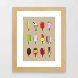 Ice Lolly Collection V2 Framed Art Print