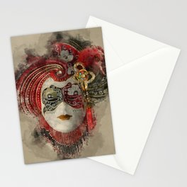 Venetian Mask 1 Stationery Cards