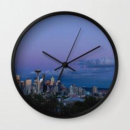 Seattle at Sunset Wall Clock