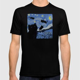 The Starry Cat Night T-shirt