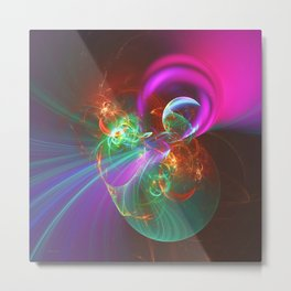 Busting Your Bubble Metal Print