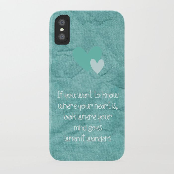 If You Want To Know Where Your Heart Is Iphone Case By