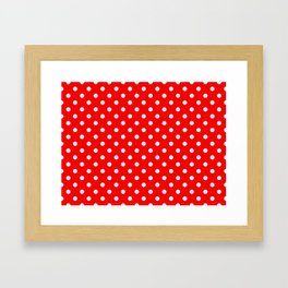 Girls just wanna have dots - red/white Framed Art Print