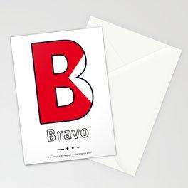 Bravo - B - Navy Alphabet Stationery Cards