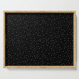 Simple Black and White Speckled Pattern Serving Tray