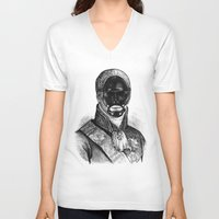 bdsm V-neck T-shirts featuring BDSM XXI by DIVIDUS