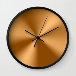 Copper Tones Stainless Steel Print Wall Clock