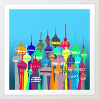 Tower City Art Print