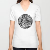 anxiety V-neck T-shirts featuring Anxiety by Mind-off