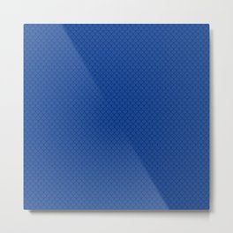 Cobalt Blue Scales Pattern Metal Print