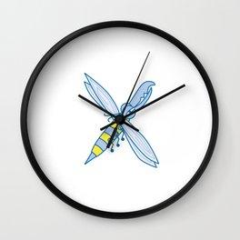Lowercase x, no border Wall Clock