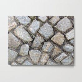 Cobbled Stones Metal Print