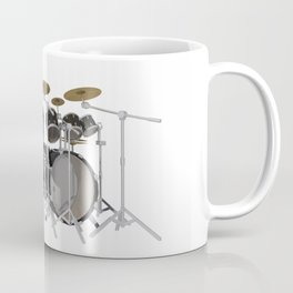 Black Drum Kit Coffee Mug