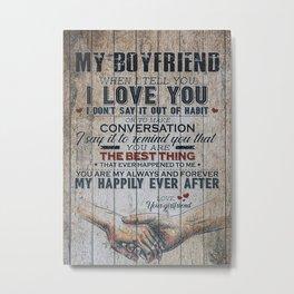 Love Quote For Boyfriend Metal Print