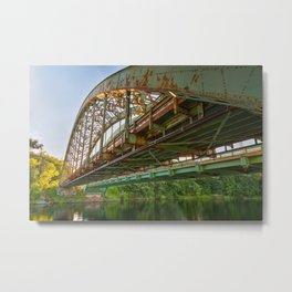 Rusted Sunset Bridge Metal Print