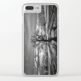 Lone tree over the East Somerset Railway Clear iPhone Case