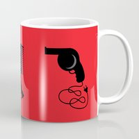 gothic Mugs featuring Gothic beauty by Tony Vazquez