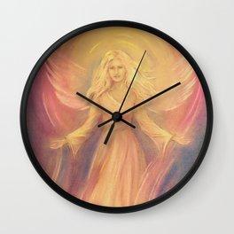 Angel Light Love - Spiritual painting Wall Clock