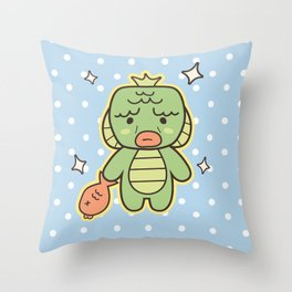 Kawaii Little Swamp Creature Throw Pillow