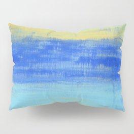 Relaxing Beach Aqua Turquiose Nautical Abstract Art Pillow Sham