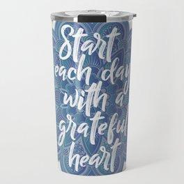 Gratitude Mandala Travel Mug