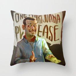 One Marijuana Please Throw Pillow