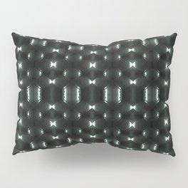Futuristic Dark Hexagonal Grid Pattern Design Pillow Sham