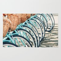 bicycles Area & Throw Rugs featuring Bicycles by Jewels