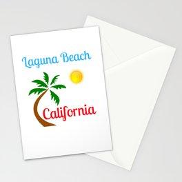 Laguna Beach California Palm Tree and Sun Stationery Cards