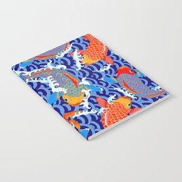 Koi fish / japanese tattoo style pattern Notebook