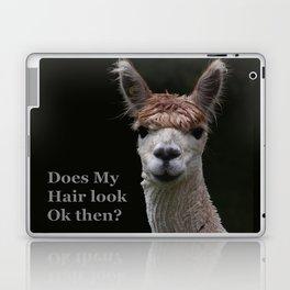 Funny hairstyle alpaca Laptop & iPad Skin