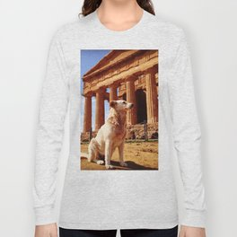 Majestic Dog for a Majestic View Long Sleeve T-shirt