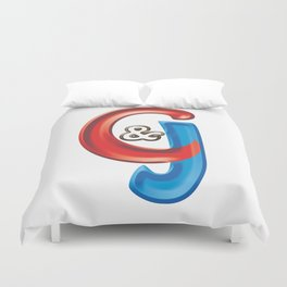 Candy logo of C&J Web Designers and Graphics LLC of Hartford CT Duvet Cover