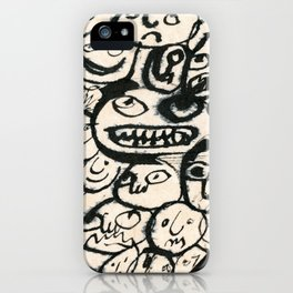 little girl is being moody iPhone Case