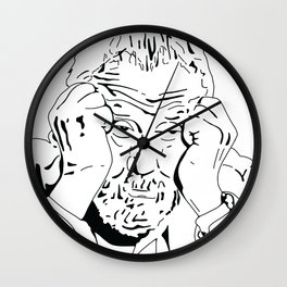 MIKE LEIGH ROUNDTABLE FACE Wall Clock