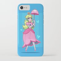 princess peach iPhone & iPod Cases featuring Princess Peach by ZoeStanleyArts