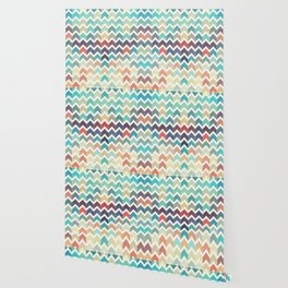 Watercolor Chevron Pattern Wallpaper