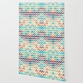 Watercolor Chevron Pattern Wallpaper