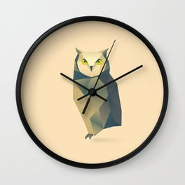 Geometric Owl - Modern Animal Art Wall Clock