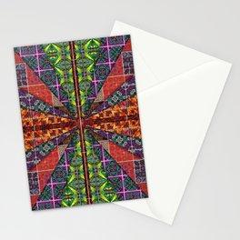 no. 252 rust orange pink green purple Stationery Cards