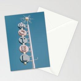 Retro Motel Sign Stationery Cards