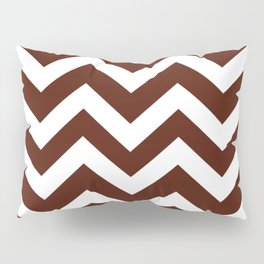 French puce - red color - Zigzag Chevron Pattern Pillow Sham