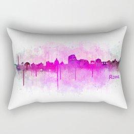 Rome city skyline HQ v05 pink Rectangular Pillow