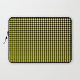 Mini Black and Bright Yellow Cowboy Buffalo Check Laptop Sleeve