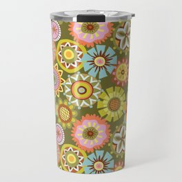 """Button Flowers-""""Believe"""" Colorway Travel Mug"""