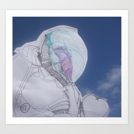 The humblest of the chief astronauts Art Print