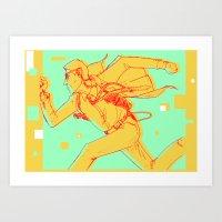 maze runner Art Prints featuring Runner by gallerydod